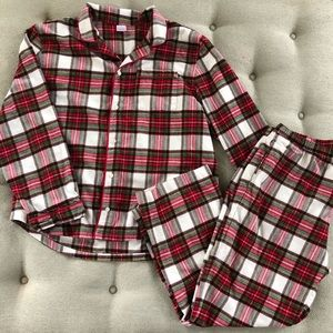 Hanna Andersson Red Plaid Flannel Pajamas XL